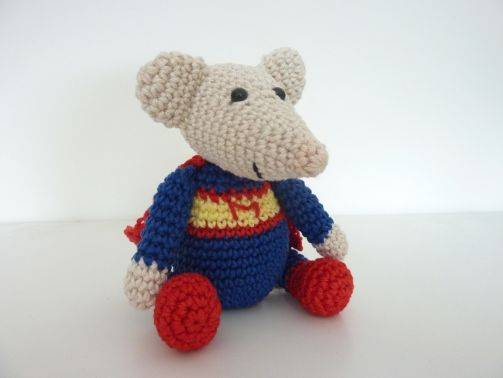 "Häkelanleitung - Superman-Maus ""Mini"""