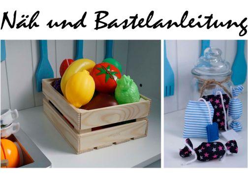 Teebeutel, Bonbon & Obstkiste für den Kaufmannsladen...