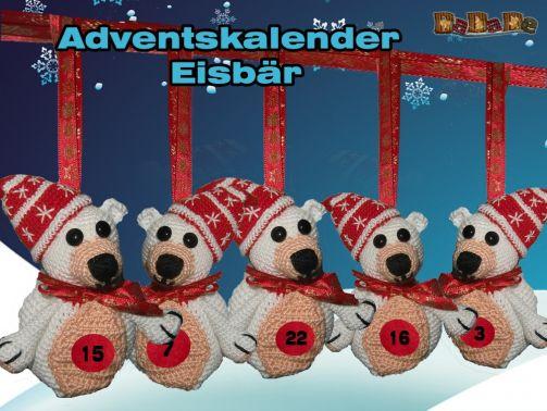 Adventskalender Tiere, Eisbär - gehäkelt von Dadade