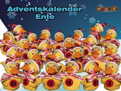 Adventskalender Tiere, Ente  - gehäkelt von Dadade