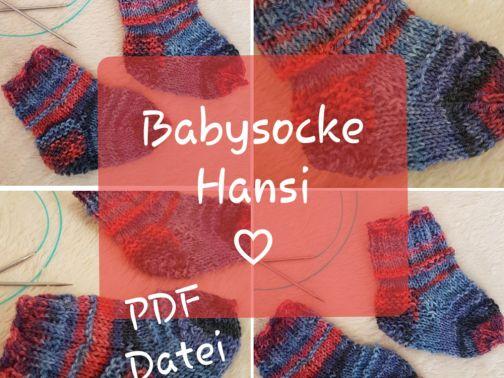 Babysocke stricken, Hansii