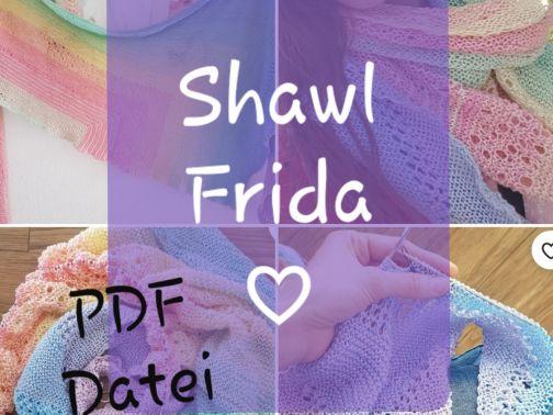 Tuch stricken, Frida