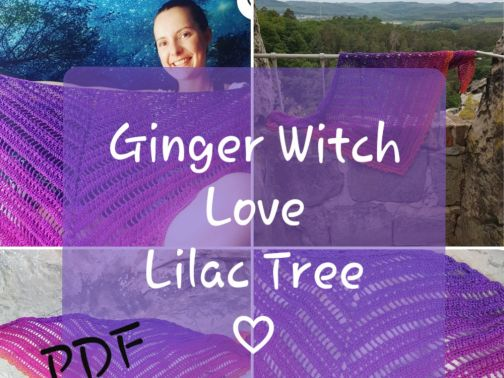 Dreieckstuch häkeln, Witch love lilac tree
