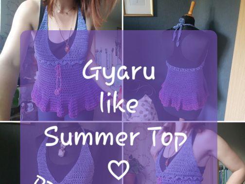 Top häkeln, Gyaru like Summer Top