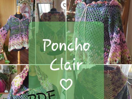 Poncho häkeln, Clair