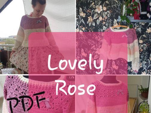 Pullover häkeln, Lovely Rose