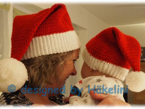 """Häkelanleitung Weihnachtsmütze """"Big Santa"""" für Erwachsene"""