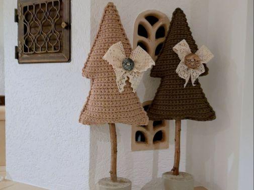Häkelanleitung XL Weihnachtbäumchen aus Textilgarn