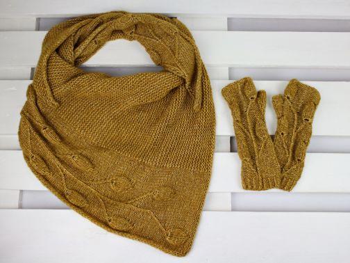 """Strickanleitung Set """"Golden Leaves"""""""