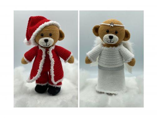 Häkelanleitung Weihnachtsoutfit für Theo und Thea Teddy