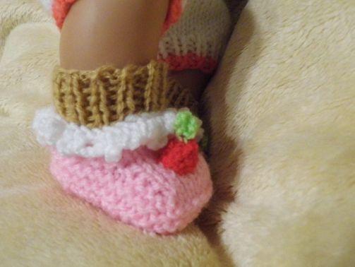 Puppensocken Cupcake