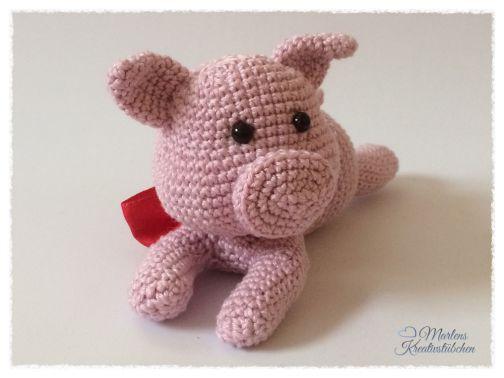 Häkelanleitung Schweinchen Charlotte