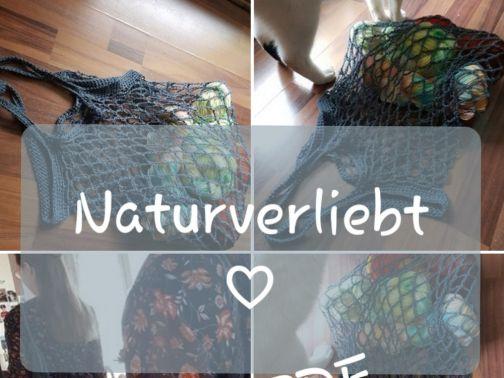 Einkaufsnetz häkeln, Naturverliebt