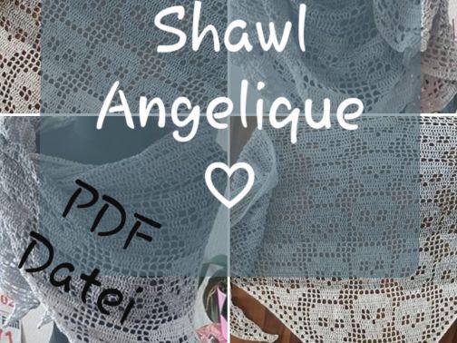 Motivtuch häkeln, Angelique