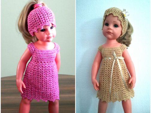 """Häkelanleitung Puppen Outfit """"Glamour"""" für 45-50 cm Puppen"""