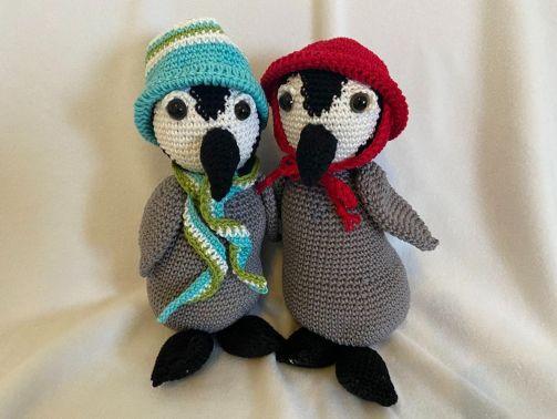 """Häkelanleitung """"Pit & Pia Pinguin"""""""