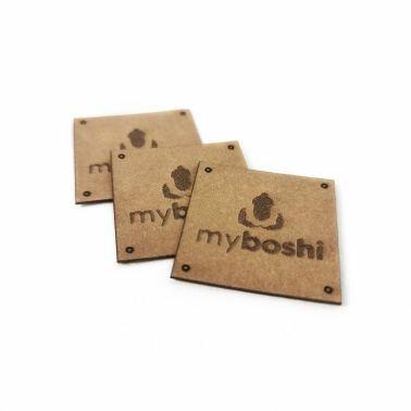 myboshi Label: dein veganes Etikett in Lederoptik 3 Stück