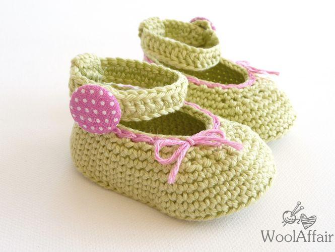WoolAffair - Baby Ballerinas - Häkelanleitung für Babyschuhe - No.8 ...