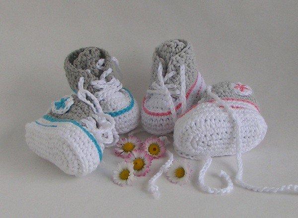 Lucygurumi Häkelanleitung Babyschuheturnschuhetaufschuhe