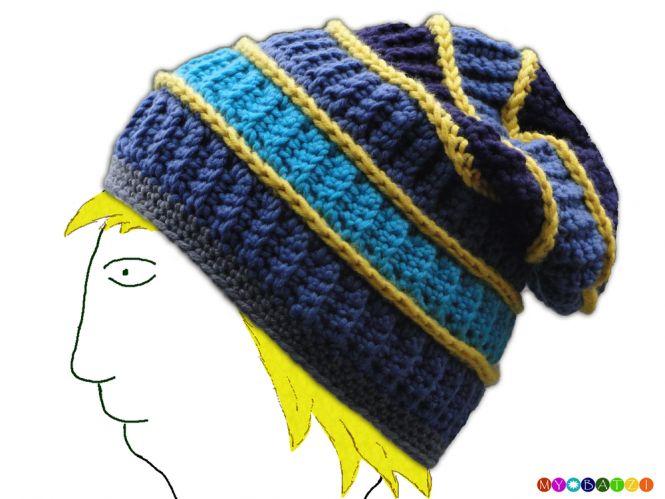 MyBatzi - Mütze / Beanie mit Streifen häkeln | MyBoshi.net