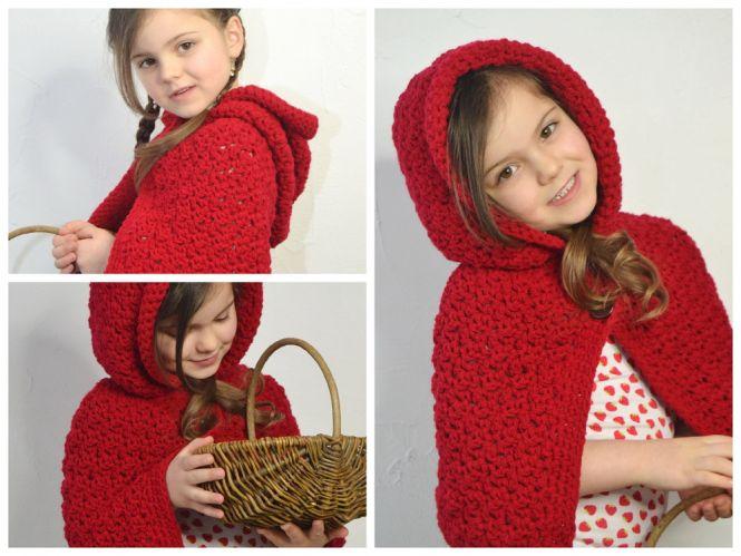 Leomaxi Crochet Rotkäppchen Cape Mit Stulpen 3er Set