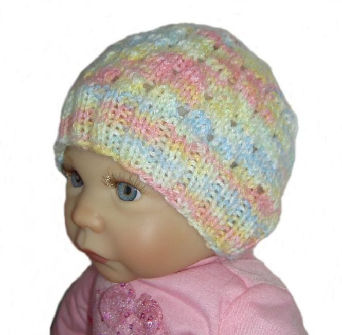 maschenspiel - Strickanleitung Babymütze, 0-3 Monate | MyBoshi.net