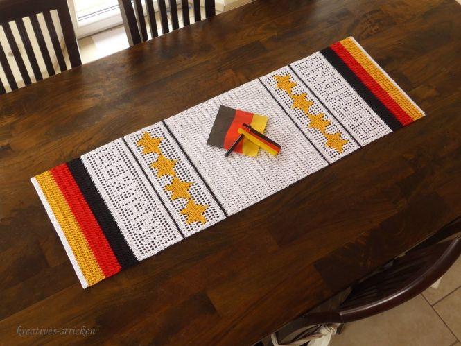 Kreatives Stricken Häkelanleitung Tischläufer Germany Myboshinet
