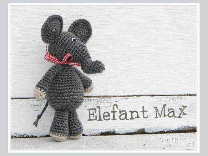 Kristinasart Häkelanleitung Amigurumi Elefant Max Myboshinet