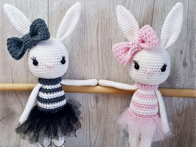 Spielzeug Amigurumi Ballerina Häschen Mit Liebe Gehkelt