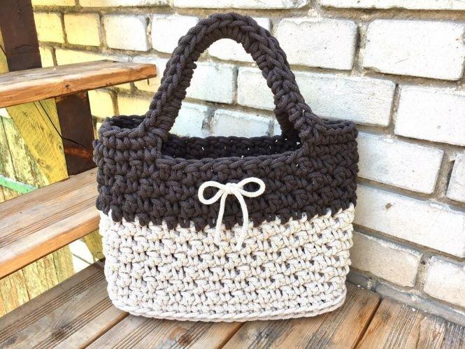 Crochetmama Häkelanleitung Tasche Shopper Choco Myboshinet