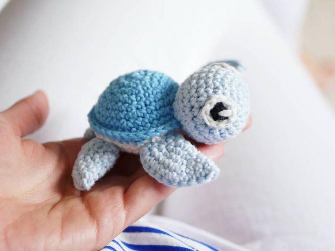 Petitbonnet Häkelanleitung Kleine Schildkröte Myboshinet