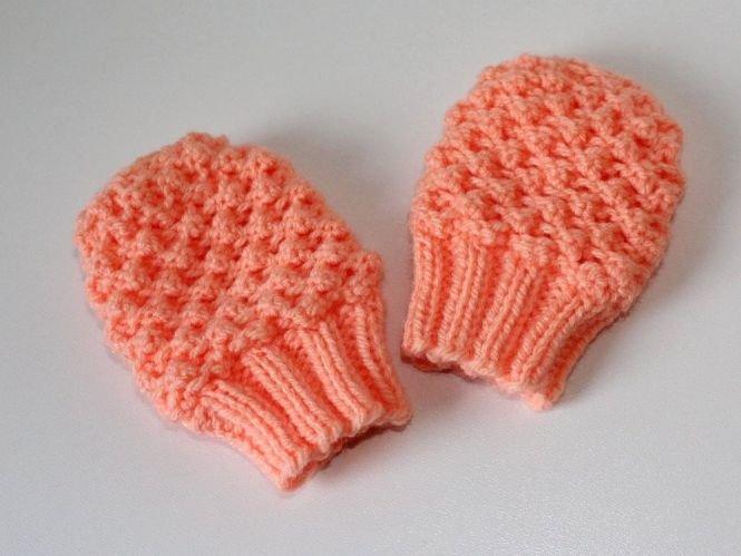 Maschenspiel Strickanleitung Baby Handschuhe Dornröschenmuster