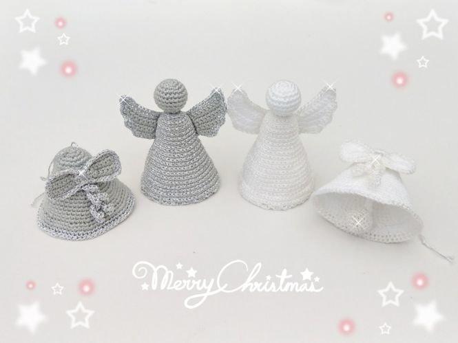 Rose Designs Häkelanleitung Weihnachtsdeko Glocke Und Engel