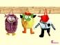 3in1 Kindergartentasche Monster, Pirat, Eule