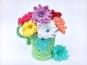 Häkelanleitung Blumenvase GRÜNDERZEIT mit Petunien