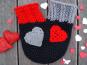 """Pärchen-Handschuh """"I love you"""" mit Herz-Applikationen"""