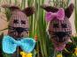 Blumensticker Herr und Frau Hase