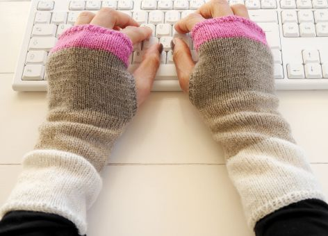 "Strickanl. - Stulpen ""simply"" - fingerl. Handschuhe - No.122"