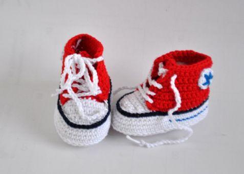 Häkelanleitung Baby Turnschuhe/Sneakers gehäkelt