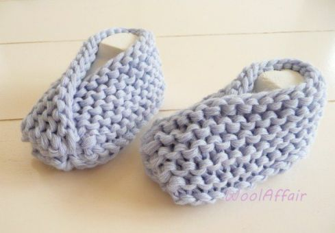 schnell und einfach Babyschuhe stricken - Grobstrick - No.26