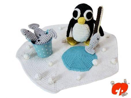 Häkelanleitung (037): Rob, der angelnde Pinguin