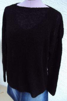 Leicht transparenter Pullover Oversize