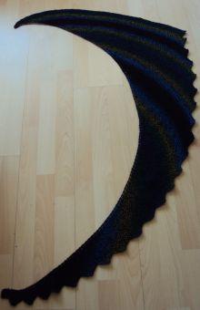 Asymetrisches Tuch mit zackenkante (Drachenschwanz)