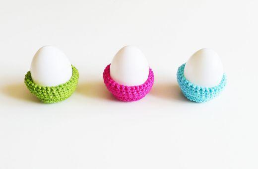Eierbecher häkeln, Häkelanleitung Eierbecher für Ostern