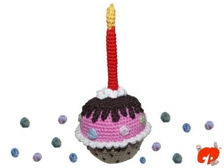Häkelanleitung (028): Geburtstags-Muffin