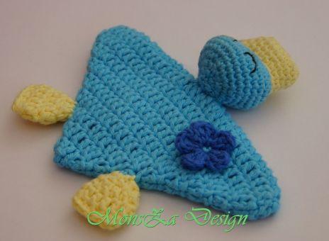 Mini-Schnuffeltuch Ente Mia - für Babys und Kleinkinder