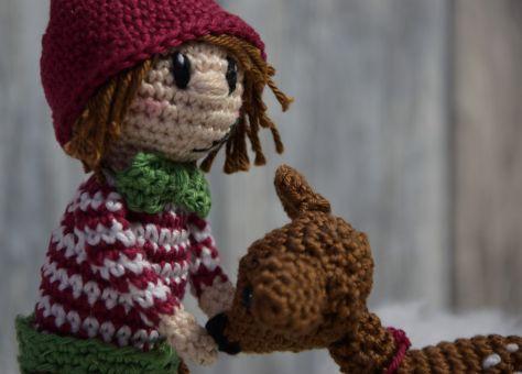 Weihnachtswichtel Olaf mit Reh