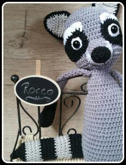 großer Waschbär Rocco Raccoon Schlenkertier 40 cm