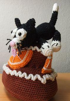 Orangen-Schokotorte mit Katzenschlecker