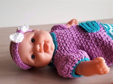 Häkelanleitung Leggins und Kleidchen für Puppen